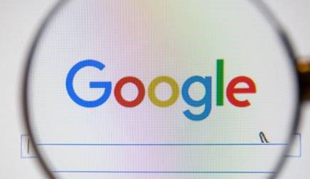 Google search logo and search bar