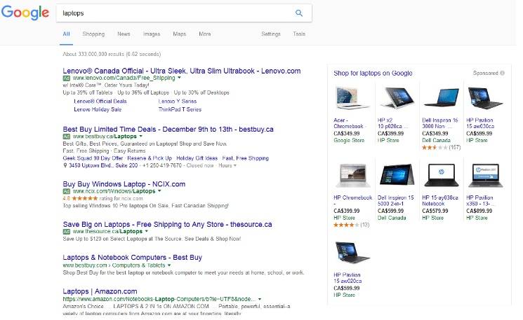 Expanded product listing ads