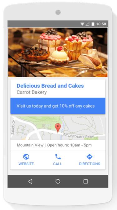 Google local extensions