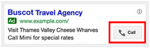 Call extensions on Adwords