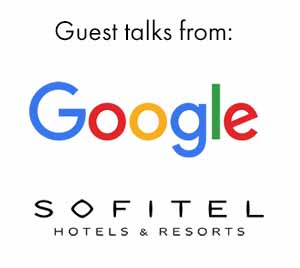 Guest talks from Google and Sofitel