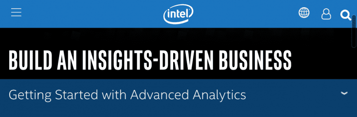 Intel is among the leading tech giants in the predictive analytics part of machine learning