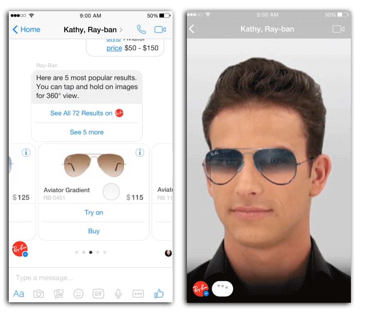 Chatbot shopping assistant