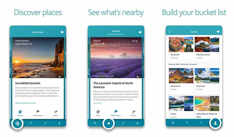Microsoft Outings travel planning app