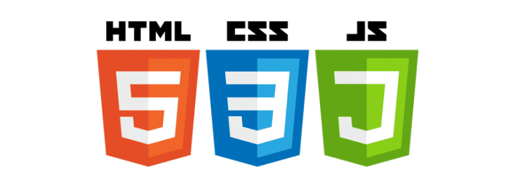 Different code for building websites: HTML, CSS, JS