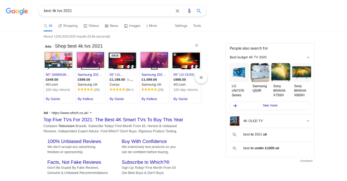 Search results for best 4k TVs 2021
