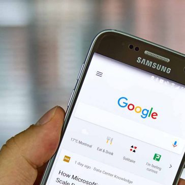 Google search results on mobile