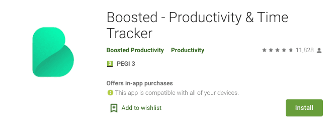 Boosted - the productivity and time tracker app