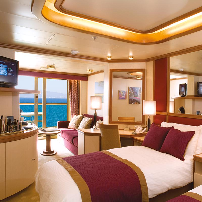 P&O Cruises SEO case study header image showing inside of a cabin
