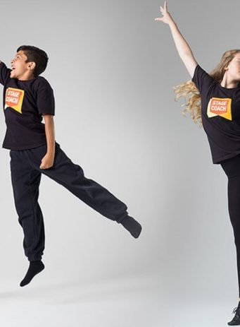 Stagecoach PPC case study header image showing children dancing