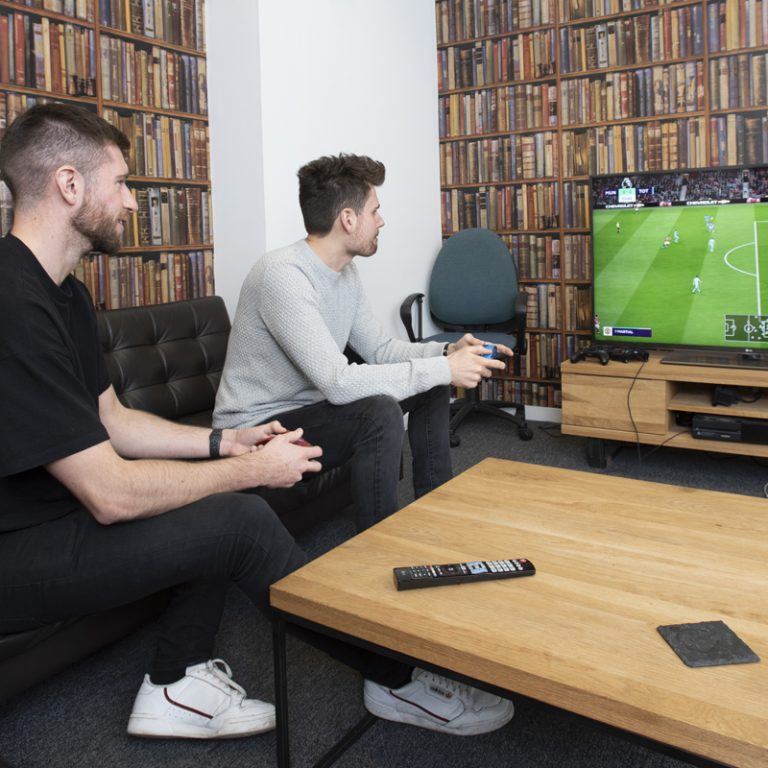 PPC specialists playing Fifa
