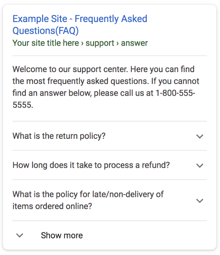 Example of 'people also ask' questions to get content ideas from