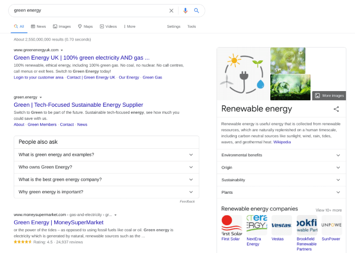 Search results for green energy