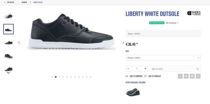 Shoes for Crews product page